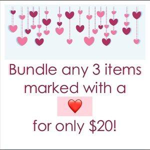 COPY - COPY - COPY - BUNDLE ANY THREE ♥️ FOR $20